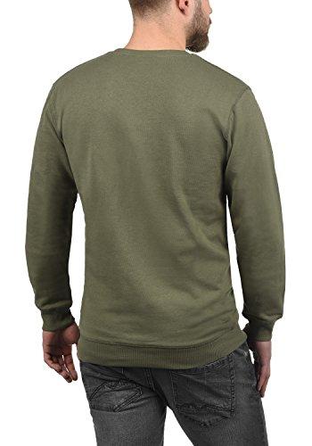 Homme Pull shirt Rond Sweat Dusty 3784 Kian solid Sweat Oliv Encolure En BqxAB6wY