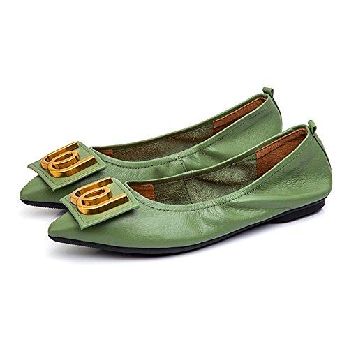 ZHANGRONG- Happy Feet Ladies Fold Up Shoes - Bombas de Ballet Plegable Varios Tamaños y Colores Disponibles (Color : C, Tamaño : EU39/UK6/CN39) C