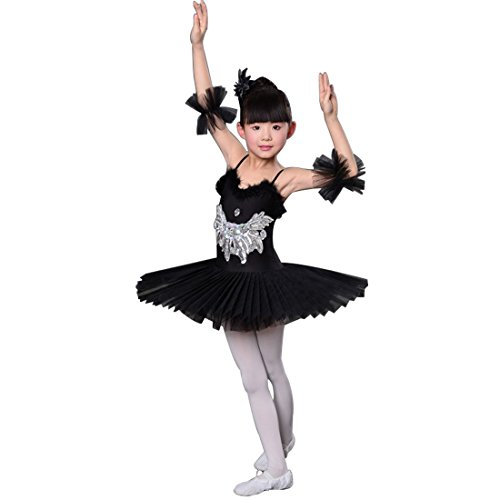 Huicai Girl Sequins swan Lake Ballet Dance Costume Girls Ballet Skirt]()