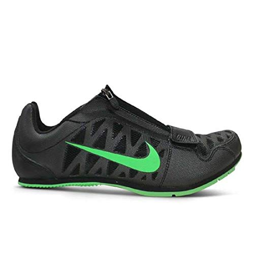 Nike Zoom Lj 4 Long Jump Track & Field Spikes (9, Black/Green) (Best Long Jump Spikes)