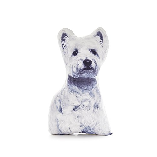 - Cushion Co - West Highland Terrier Shaped Pillow 16
