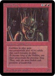 英語版 リミテッド・エディション・アルファ Limited Edtion Alpha LEA ゴブリンの王 Goblin King マジック・ザ・ギャザリング mtg