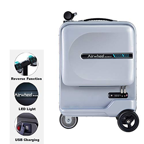 WNZL Electric Boarding Suitcase, 26L Electric Rideable Smart Luggage Car with USB Interface, 9 km Battery Life…