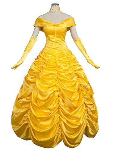 CosFantasy Princess Belle Cosplay Costume Ball Gown Fancy Dress mp002019 (Women L) -
