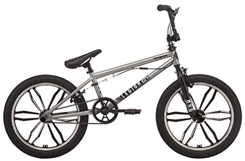 Mongoose Legion Mag Freestyle BMX Bike Featuring Hi-Ten Steel Frame and 40x16T BMX Gearing with 20-Inch Mag Wheels, Silver by Mongoose (Image #7)
