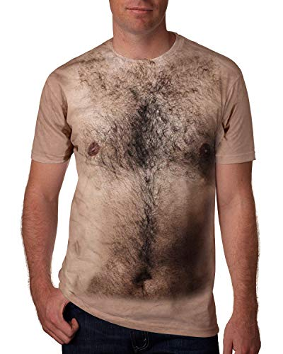 Goodstoworld Mens Graphic Tees Rave Shirts Hairy Chest