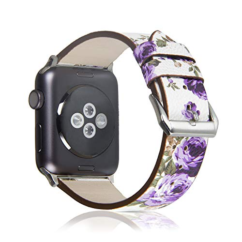 Pantheon Compatible with Apple Watch Band 38mm 40mm for Women - Floral Leather Compatible iWatch Bands/Strap for Series 4 3 2 1