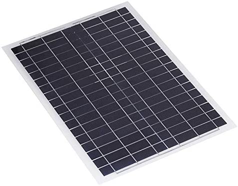 XULJ Sonnenkollektor 20W 12V Poly Flexible Poly Sonnenkollektor-Ladegerät Handy-Ladegerät for RV Boot Solar-Panel tragbar (Color : Black, Size : 20W)