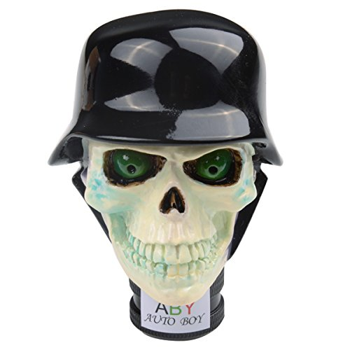 (ABy Resin Zombie Soldier Skull Shape universal Auto Car Manual Gear Stick Shift Knob )