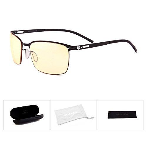 人気の GAMEKING ULTRA G604 Premium Blue Light Blocking Computer Glasses Gaming Glasses with Amber Tint Lens for Digital Eye Strain Relief [並行輸入品]   B077N7BSM9, ホビーストック 57dd1700