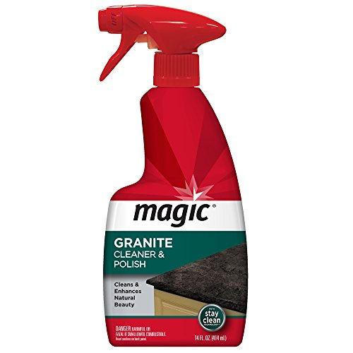 Flat Marbles Net - Magic Granite Cleaner & Polish - Enhances Natural Color in Granite, Quartz, Marble, Soap Stone and More - 14 Fl. Oz.