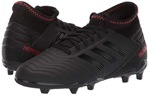 adidas Unisex Predator 19.3 Firm Ground, black/black/active red, 2.5 M US Little Kid by adidas (Image #5)