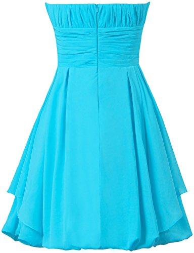 ANTS Women's Short Bridesmaid Dresses Wedding Party Dress Size 22W US Sky Blue