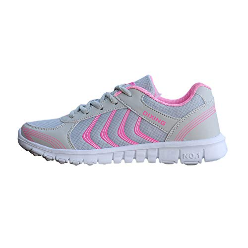 Holywin Breathable Wearable Running Sports New Womens Lightweight Shoes Pink Fashion Mesh r8qUIr