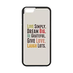 iPhone 6 Plus 5.5 Inch Cell Phone Case Black quotes simple life rules live simply OJ634539