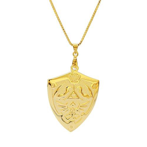 XCOSER® Zelda Shield Symbol Necklace Keychain 2015 Holiday Gift 24K Gold