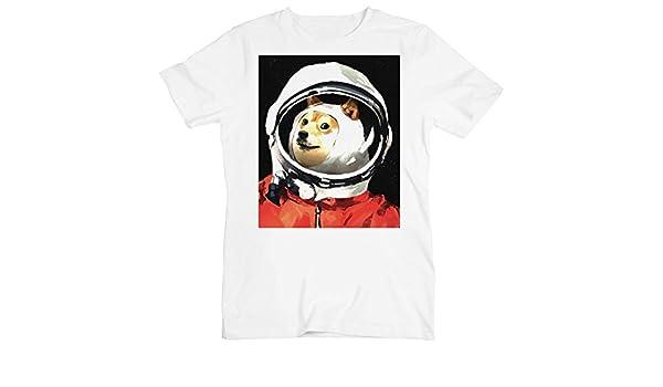 Astronaut Doge In Open Space la Camiseta de los Hombres XX-Large: Amazon.es: Ropa y accesorios