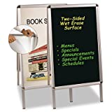 Wet Erase Board, 27x34, Black, Aluminum Frame, Sold as 1 Each