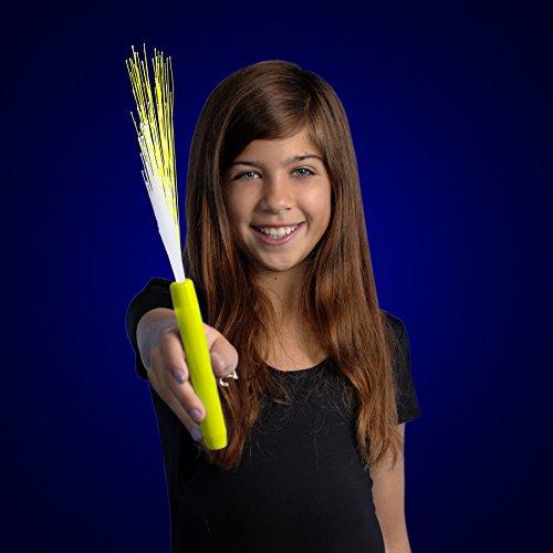 (FlashingBlinkyLights Yellow Light Up Fiber Optic Stick Wand (Set of 12))