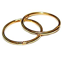18K GOLD over Sterling Silver Hinged Hoop Earrings,12mm,for men, women, or kids, for nose, ears,lips,brow