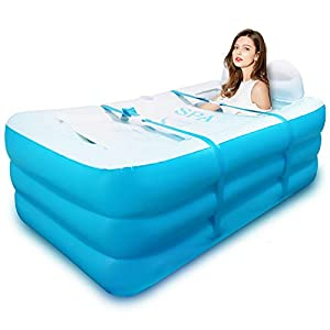 Bañera hinchable plegable, para adultos, para la familia, con base gruesa, para niños
