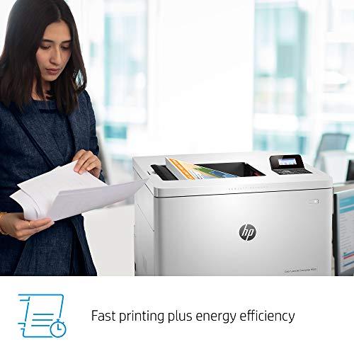HP LaserJet Enterprise M553n Color Laser Printer with Built-in Ethernet (B5L24A) , White , 18.9 x 18 x 15.7 inches