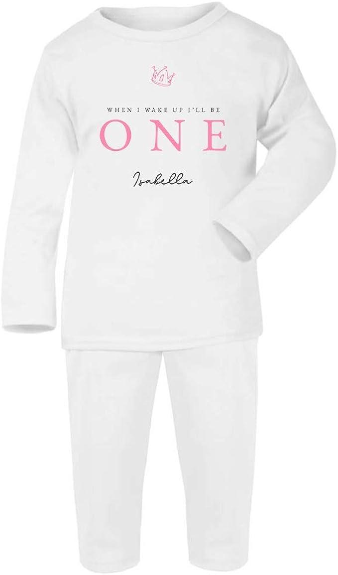 Personalised When I Wake Up One Princess Crown Pyjamas Birthday Pjs Girls