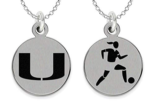 College Jewelry University of Miami Hurricanes Women's Soccer Charm Necklace by College Jewelry