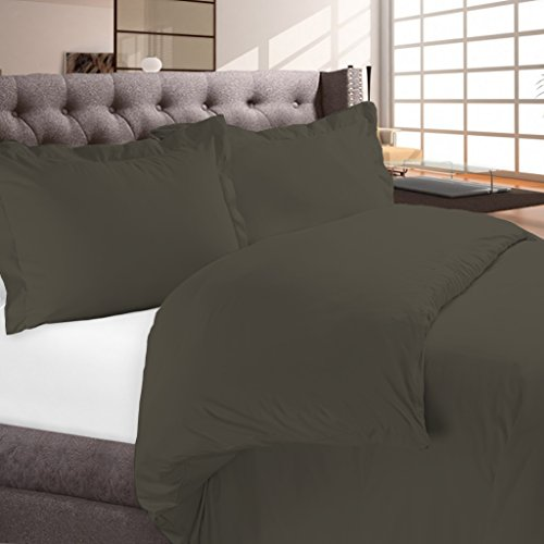 Luxury Duvet Cover Set (3 Pieces) By Night Guard | Hotel Quality Lightweight Brushed Microfiber | 1500 Thread Count Ultra Soft Luxurious Egyptian Quality | Premium Bedding Set (King/Cal King, Grey)