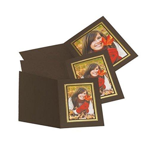 Kenro Slip In Photo Folder 8x12'' Upright Pack 10 Brown Gold [PMA058/10] B003SH9SU0