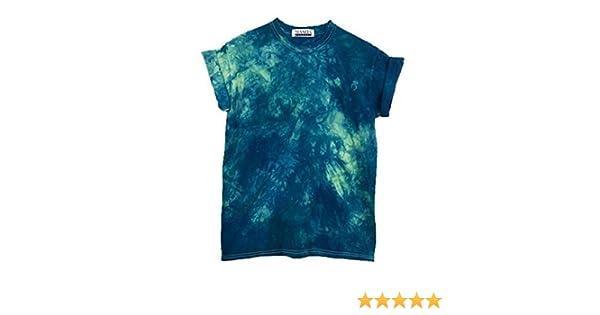 5ab57bc00 Amazon.com: Blue Psychedelic Tie Dye Unisex T-Shirt Pattern Shirt short  Sleeve Plus Size S, M, L, XL, XXL, XXXL: Handmade