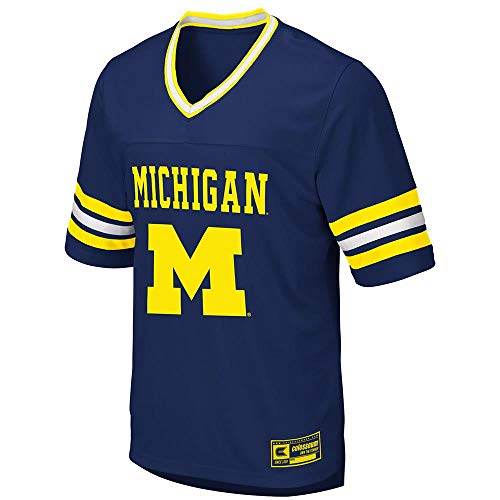 (Colosseum Mens Michigan Wolverines Football Jersey -)