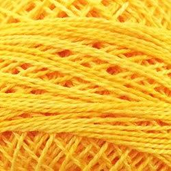 Valdani Perle Cotton Size 8 Embroidery Thread, 72 Yard Ball - o551 Sunshine (variegate)