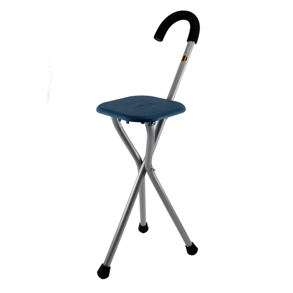 Disabilità Di Soccorso Medico Sedile Pieghevole Canna Forte Costruzione In Alluminio Con Sedili Regolabili In Altezza (Bastone Da Passeggio E Sedia Sedile) [Classe di efficienza energetica A] XBECO