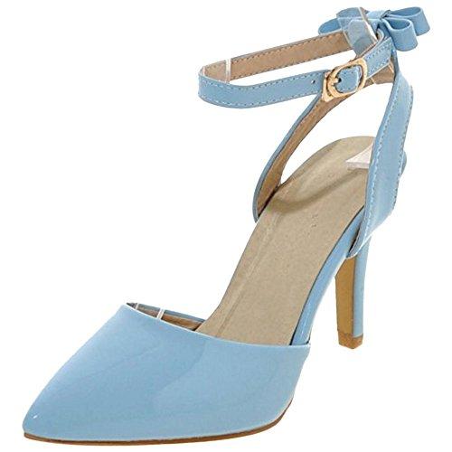 Blue Pumps Tacones Correas con Lazo Zapatos Coolcept Mujer 7RqfxCU