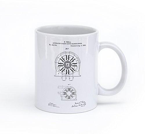 - Tesla Coil Alternating Current Magentic Motor Patent Mug