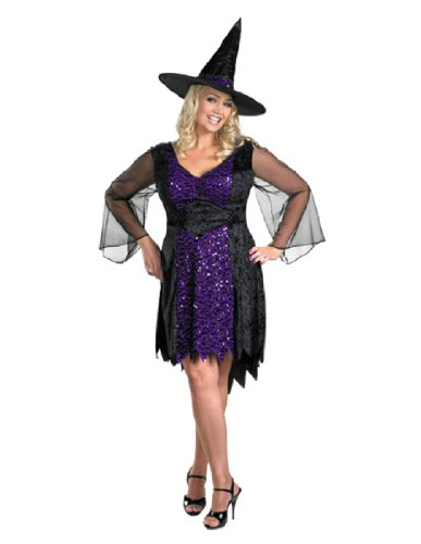 Plus Size Women Halloween (Disguise Women's My Brilliantly Bewitched Women Plus Size Costume, Black, XX-Large)