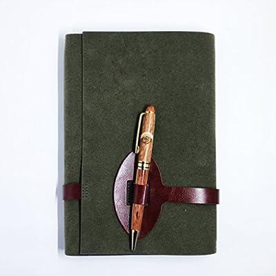 Oglov's Pen Lock Writing Journal – Felt Cover Design - Includes Wooden Ballpoint Pen