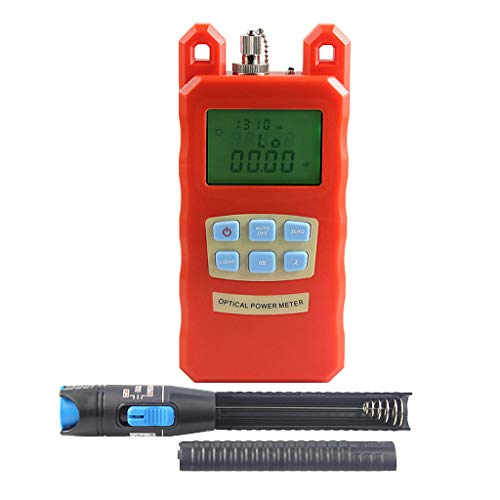 Prettyia Pack Fiber Optic Cable Tester Optical Power Meter with Sc & Fc Connector Fiber Tester +1mW Visual Fault Locator for CATV Test,CCTV Test by Prettyia (Image #6)