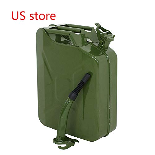 Lovinland Emergency Oil Gas Can 5 Gallon 20L Portable Gas Oil Water Bucket Petrol Diesel Storage Can Tanks with Spout Army Green