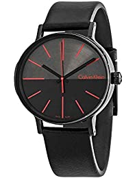 Mens Analogue Quartz Watch with Leather Strap K7Y214CY