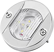 12V Boat Stern Light LED Navigation Light White Stainless Steel Sailing Signal Lights Waterproof Marine Light