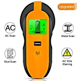 Stud Finder Wall Scanner, 4 in 1 Multi Function Electronic Stud Sensor Wall Detector Finders with Digital LCD Display, Center Finding and Sound Warning for Live AC Wire, Metal, Studs, Deep