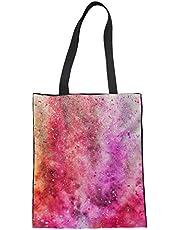 Trendy generous super cute Folding Reusable Produce Bag for Women Shoulder Cotton Bag,Colour Name:Graffiti Painting-8 (Color : Graffiti Painting-6)
