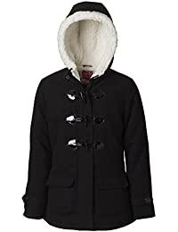 Wool Toggle Coat for Girls, Babies & Toddlers - Sherpa Hood Lining