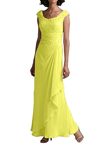 VaniaDress Women Lace Ruffles Long Bridesmaid Dress Evening Gown V242LF Yellow US6