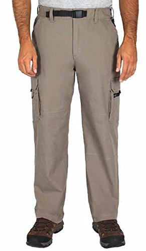 BC Clothing Mens Cotton Lined Adjustable Belted Relaxed Fit Stretch Cargo Pants (Stretch Cotton Belted)