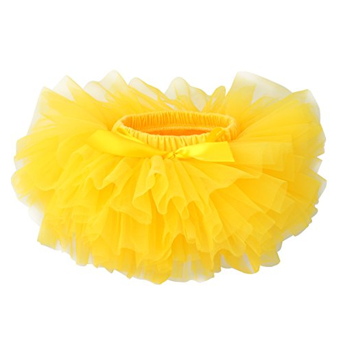 Slowera Baby Girls Soft Tutu Skirt (Skorts) 0 to 36 Months (M: 6-12 Months, Yellow) ()