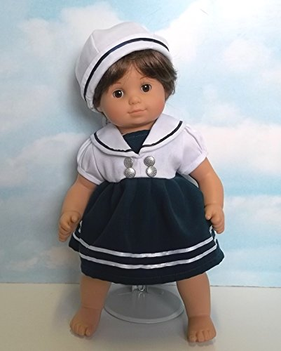 "Beatrice Collection Sailor Dress and Hat. Fits 15"" Dolls like Bitty Baby and Bitty Twin"