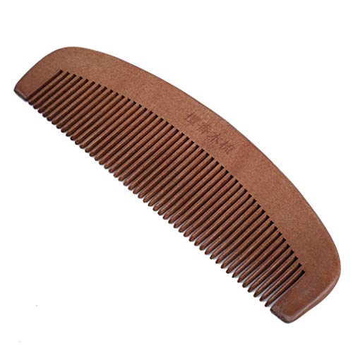 EH-LIFE Handmade Fine Tooth Green Sandalwood No Static Pocket Hair Beard Mustache Comb 1#